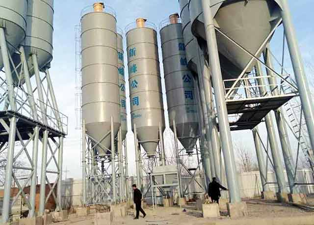 180m3/h Concrete Batching Plant has set up in Bukhara